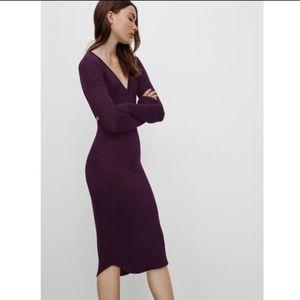 Aritzia Wilfred Free Lisiere Bodycon Midi Dress S